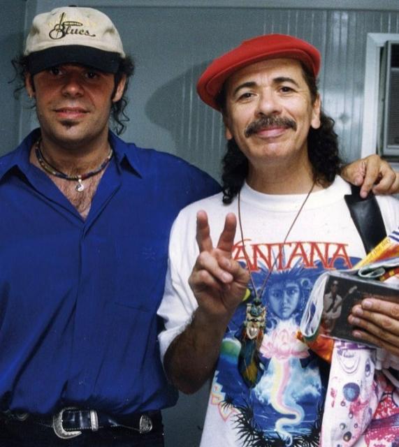 Vargas con Santana