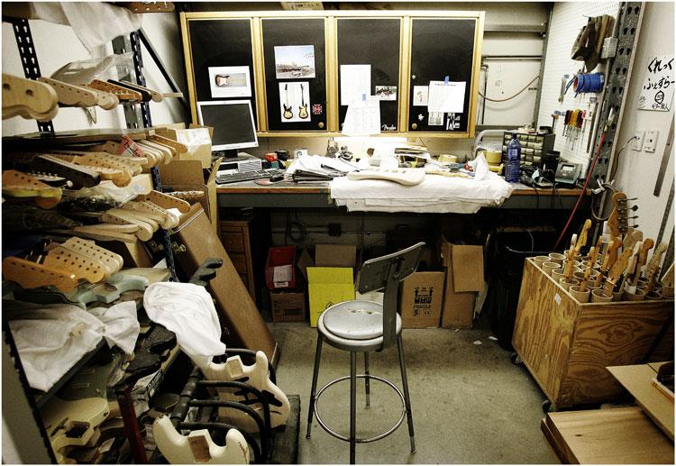 area de trabajo Fender Custom Shop